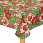Vinyl Table Cover Apple Patch Cloth Round Oval Oblong Flanne