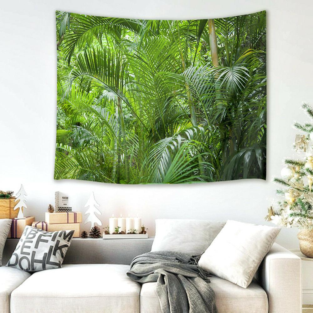 Wall Hanging Tapestry Table Cover Summer Forest Living Room