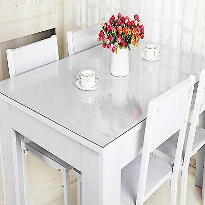 PVC Tablecloth Cover Pad Transparent