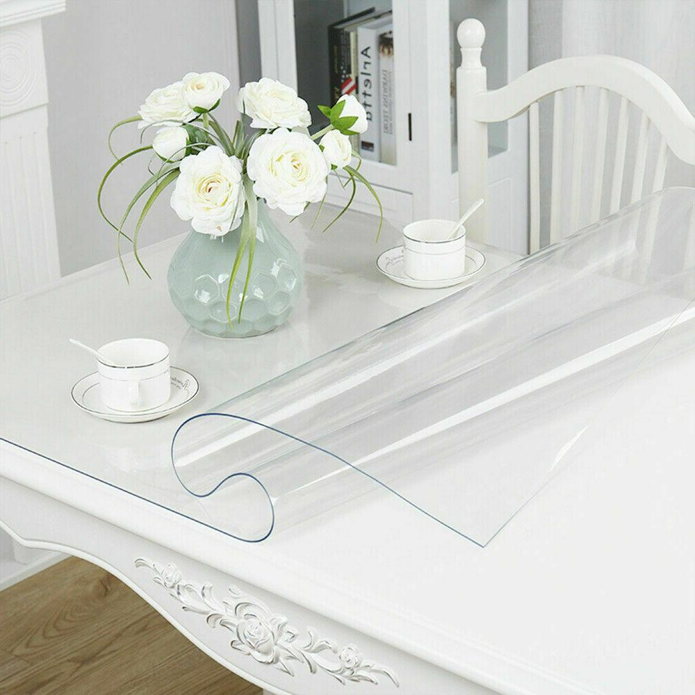 Waterproof Clear Plastic PVC Protector Table Cover