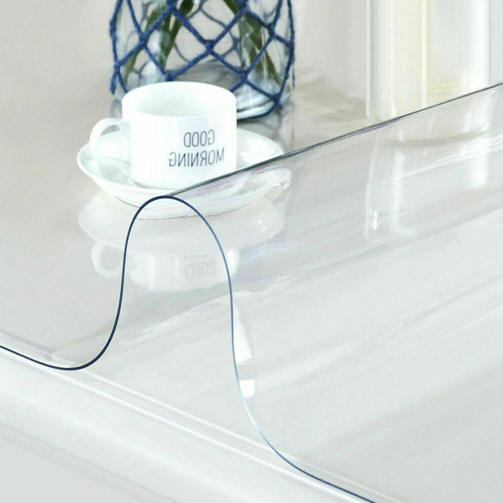 waterproof clear plastic transparent pvc tablecloth protecto