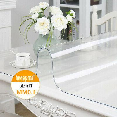 Waterproof PVC Clear Tablecloth Table Cover Mat Pad Desk Pro