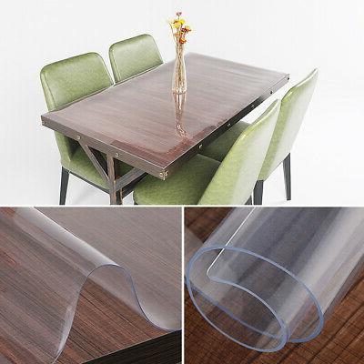 clear pvc transparent desk protector tablecloth table