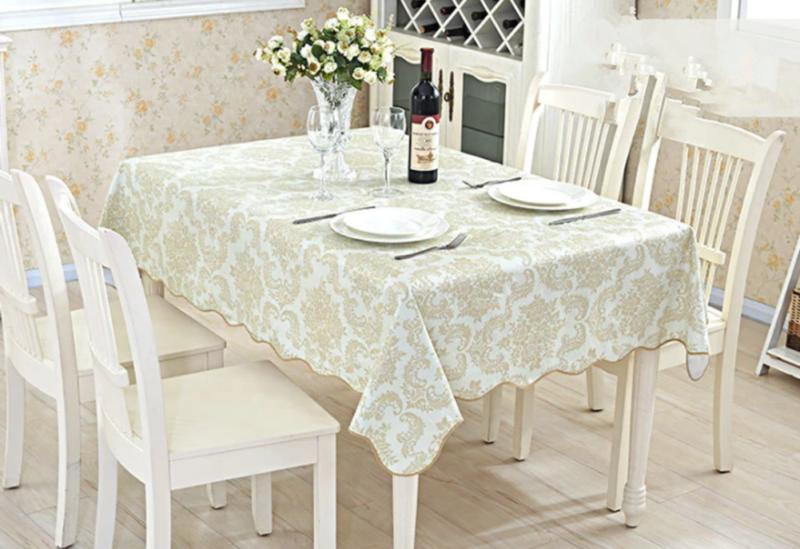 Waterproof Proof Table Dining Kitchen Tablecloth Decor