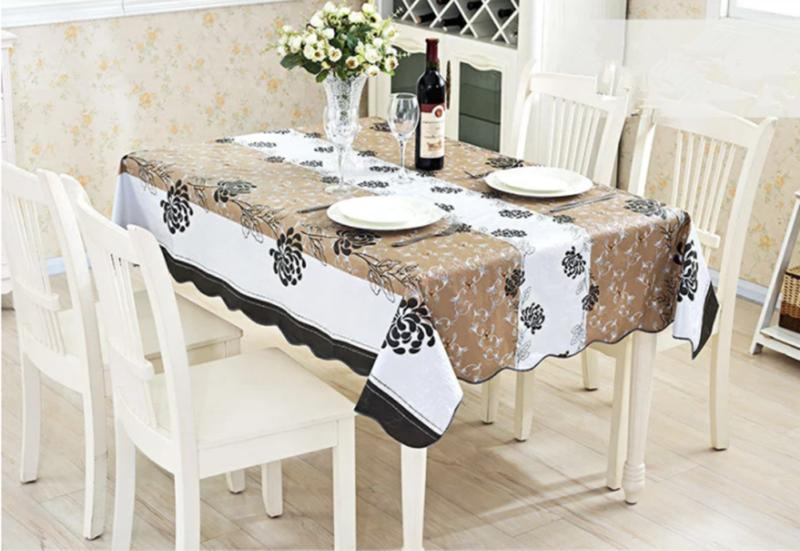 Waterproof Proof PVC Table Cover Dining Kitchen