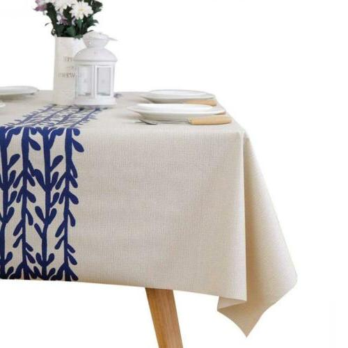 waterproof oilproof polyester fabric tablecloth home deco