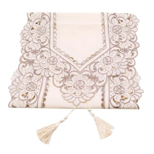 Waterproof Openwork Embroidery Pastoral Tablecloth Dining