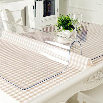 Waterproof Heat Resistant Soft Clear Tablecloth Table Cover