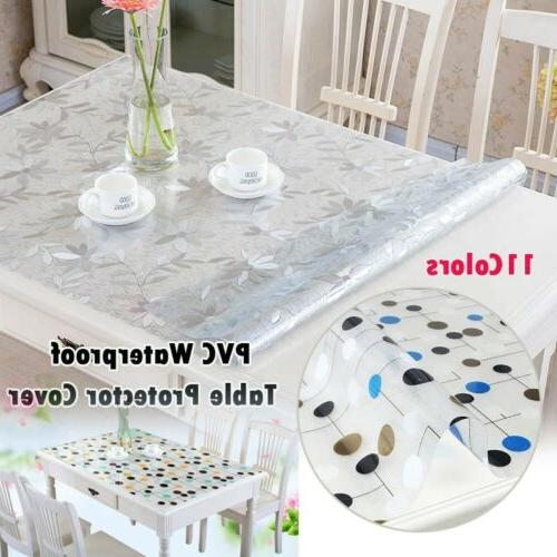 waterproof pvc tablecloth protector dinning table cover
