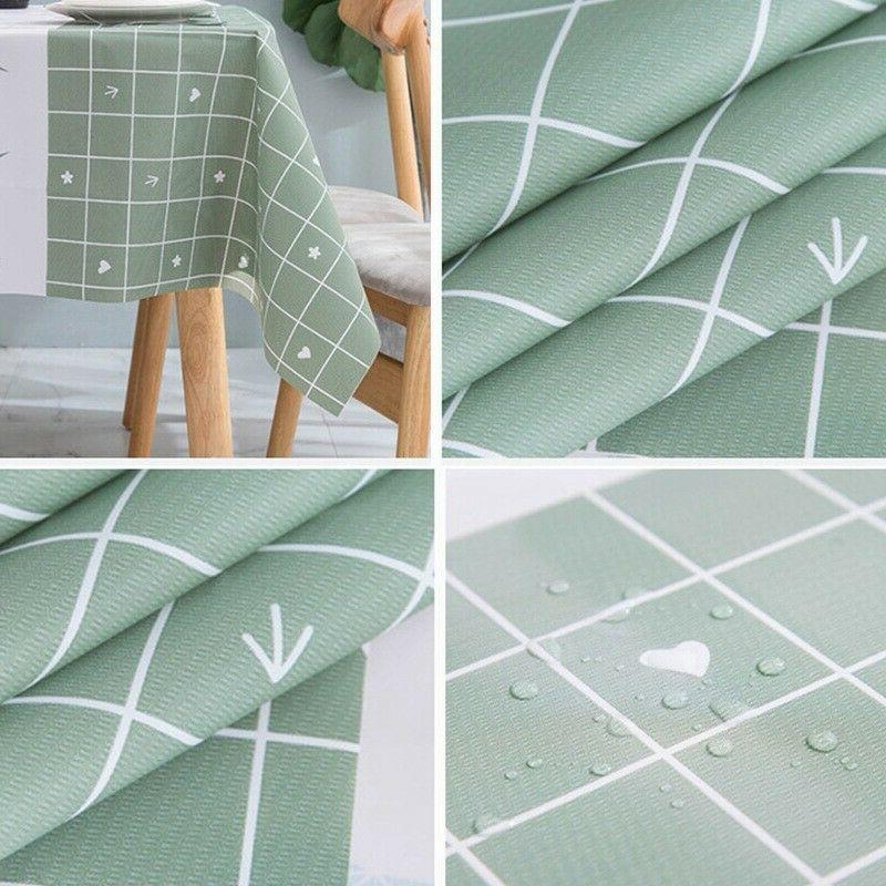 Waterproof Cloth Rectangle Dinning Cover Mat-Brav