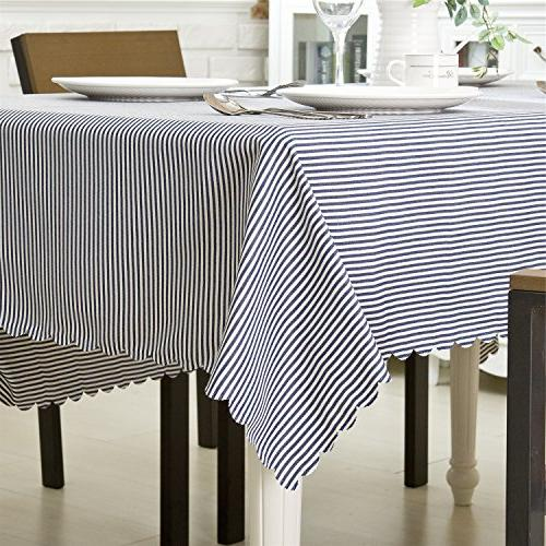 """OstepDecor 100% Polyester Cover for Kitchen Dining Room End Table Protection - Rectangle/Oblong, 70"""""""