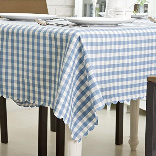 """OstepDecor Waterproof Polyester Indoor/Outdoor Waterproof Spillproof Table Cloth Cover for 52"""" x"""