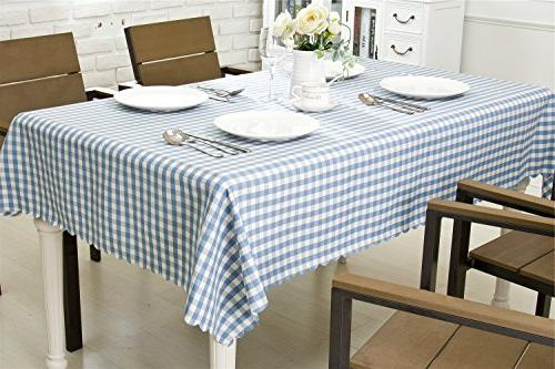 OstepDecor Polyester Waterproof Table Dinner Kitchen - Rectangle/Oblong,