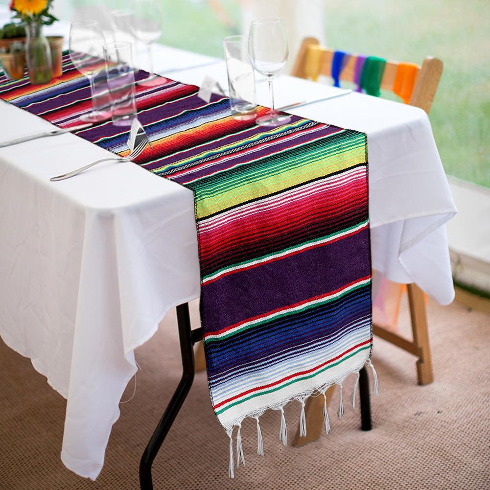 Wedding Cotton Table Runners Mexican Party Table Runner Tablecloth Cover