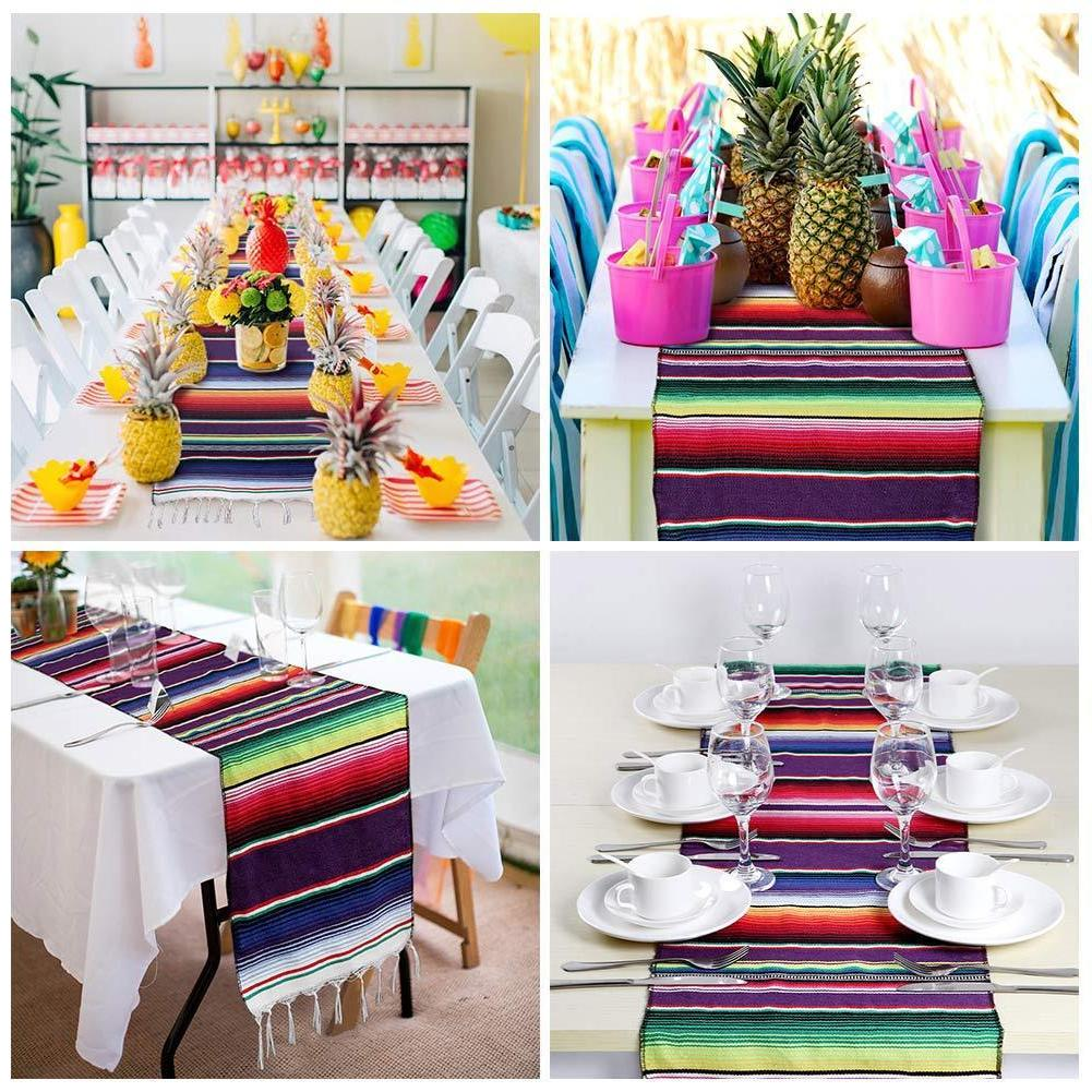 Wedding Table Mexican Runner Tablecloth Cover