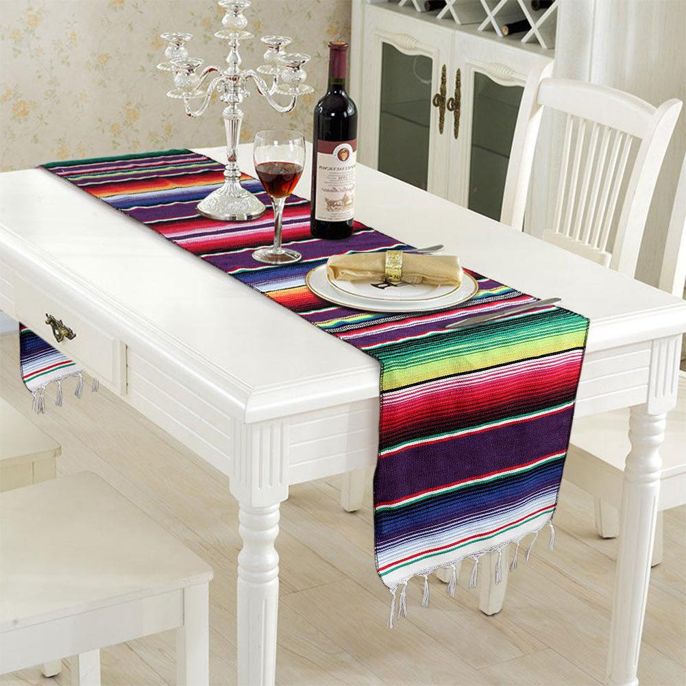 Wedding Cotton Table Mexican Party Serape Table Runner