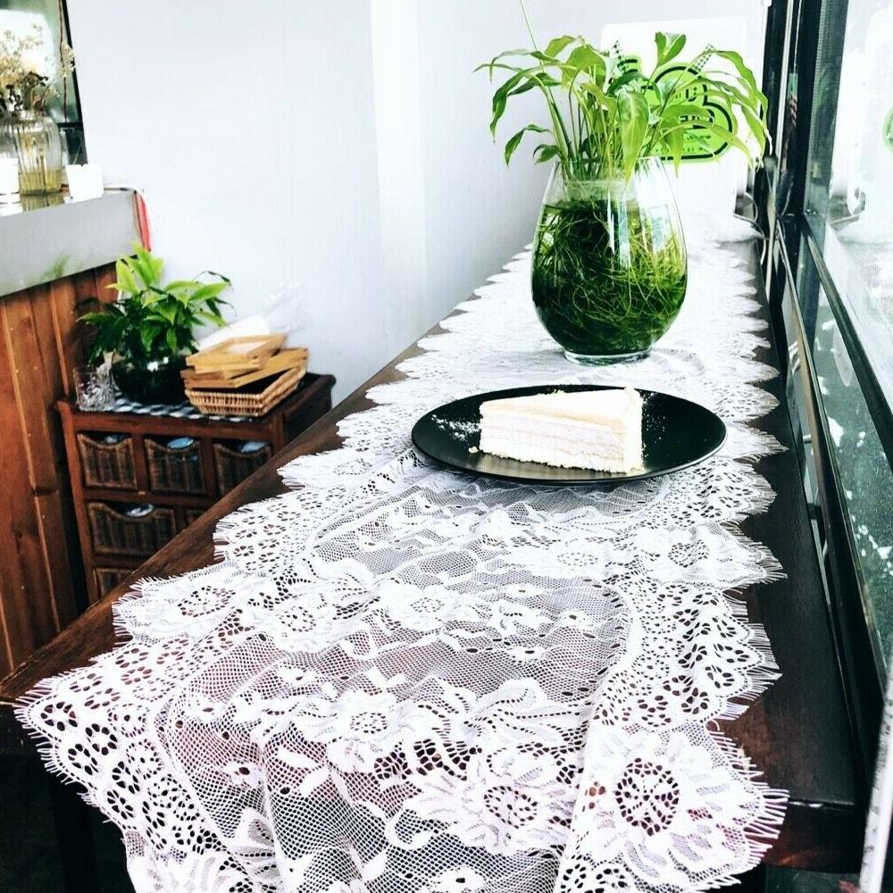 wedding lace table runners floral embroidery table
