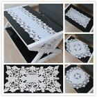 White Embroidered Lace Table Cloth Cover Topper Floral Table