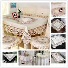 White Embroidery Lace Tablecloth Dinner Table Cloth/Cover We