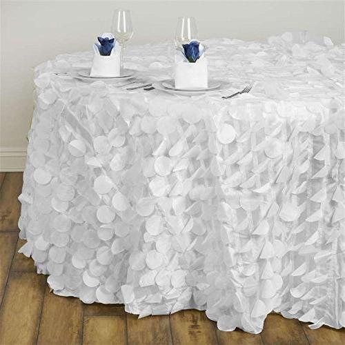 white round raised petals taffeta