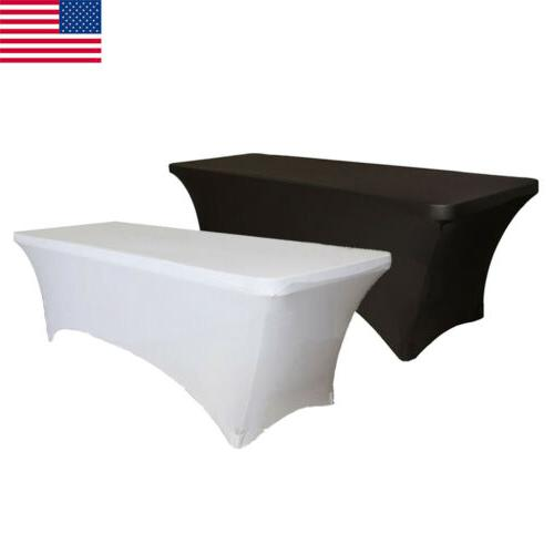 """6"""" 8"""" ft. Fitted Polyester Tablecloth Table Cover Wedding Ba"""