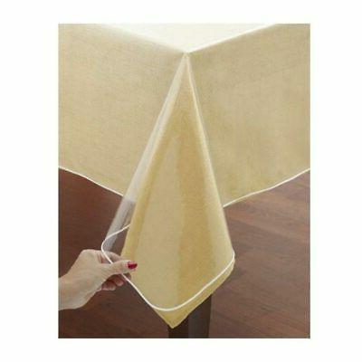 window clear vinyl tablecloth protector heavy oblong