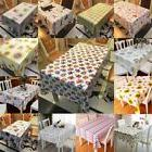 Wipe Clean PVC Tablecloth Dining Kitchen Table Cover Protect