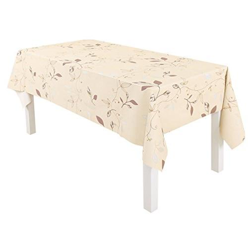 wipe clean pvc tablecloth rectangle
