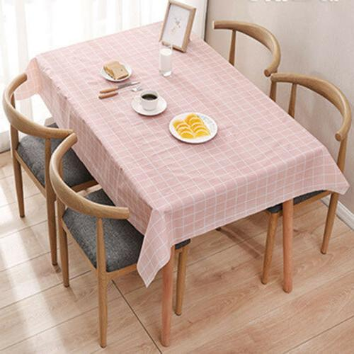 Wipe Waterproof Table Cover Protector For Kitchen Dining Table