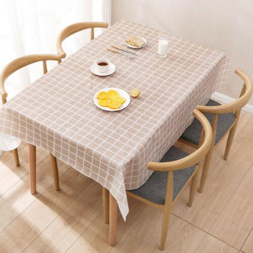 Wipe Waterproof Table Cover Protector For Kitchen Table
