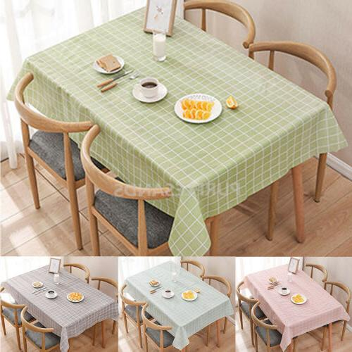 wipe clean table cloth waterproof table cover