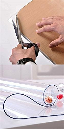 Wipeable Clear Vinyl Furniture Covers Kitchen Top Waterproof Side Table End PVC Roll Mats 16 2 Set