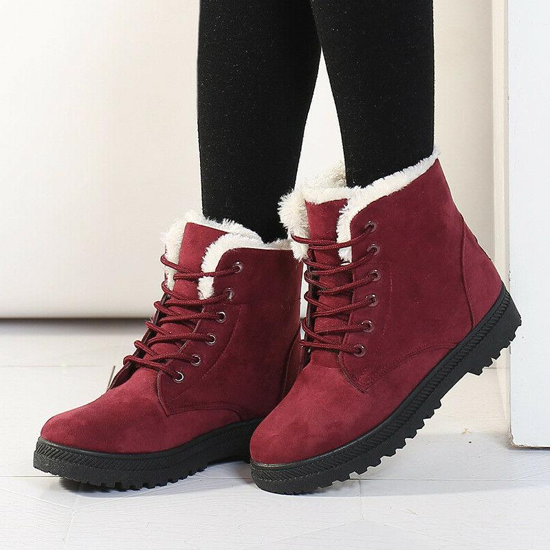 women winter suede flat boots lace up