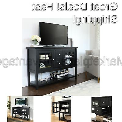 wood console table tv stand