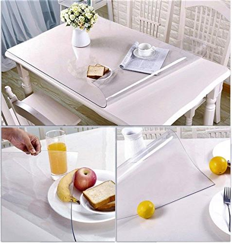 """Large Clear Vinyl Wood Thick Hardwood Protective Desk Dining Office High 36"""" x 60"""""""