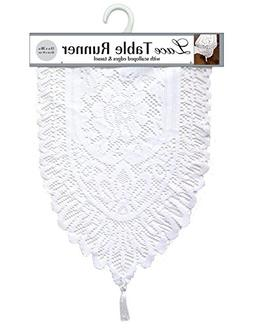 Ritz Lace Table Cloth Runner, 13 by 72-Inch
