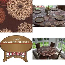 Laminet Elastic Fitted Table Cover - Medallion - Small Round