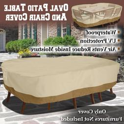 Large Patio Garden Rectangular Oval Table Chair Cover Outdoo