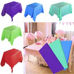 Large  Rectangle Plastic Table Cover Cloth Wipe Clean Party