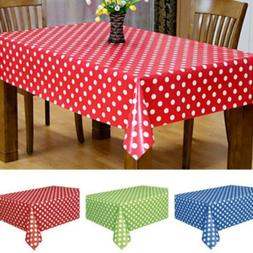 Large Plastic Rectangle Table Cover Cloth Wipe Clean Party H