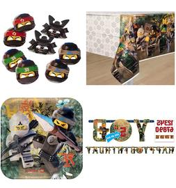 Lego Ninjago Party Supply~Table Cover/Face Masks/B-Day Banne
