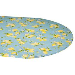 Miles Kimball Lemon Tree Elasticized Vinyl Table Cover