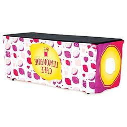 HIDEABOO Lil' Biz Polyester Easy Lemonade Stand 6 Foot Foldi
