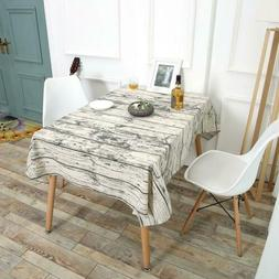 Linen Rectangular Shape Dining Table Desk Cover Cloth Party