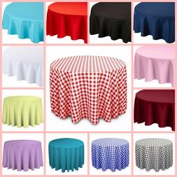 Linen Tablecloth Round Dinner Table Cover Polyester Tableclo