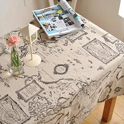 LINENLUX Linens Tablecloths Picnic Burlap Tablecloth for Rou