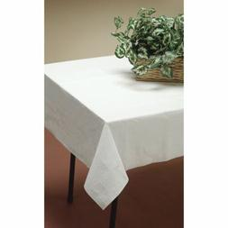 Linette Tablecover White 54 x 108 Waterproof Disposable Line