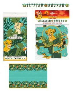 LION KING Birthday Party Decoration Banner and Table Cover