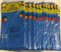 """Lot Of 12, Plastic Table Cover 54"""" x 108"""" Heavy Duty Tab"""