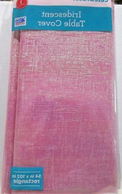 "Lot of 3 Iridescent Table Cover Pink Sparkle 54"" X 102"" Vale"